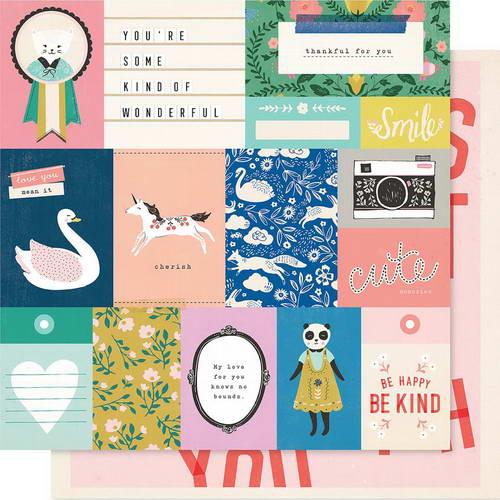Двусторонний лист бумаги Crate Paper - Willow Lane - Daydream, 30,5х30,5 см