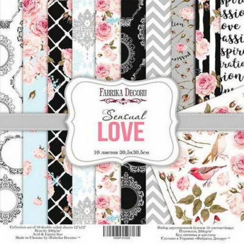 Набор двусторонней бумаги Sensual Love, 30,5х30,5 см, 10 листов