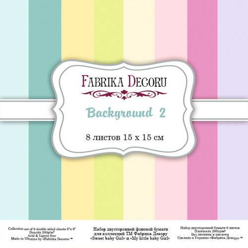 Набор скрапбумаги Backgrounds 2, 15x15 см, 8 листов