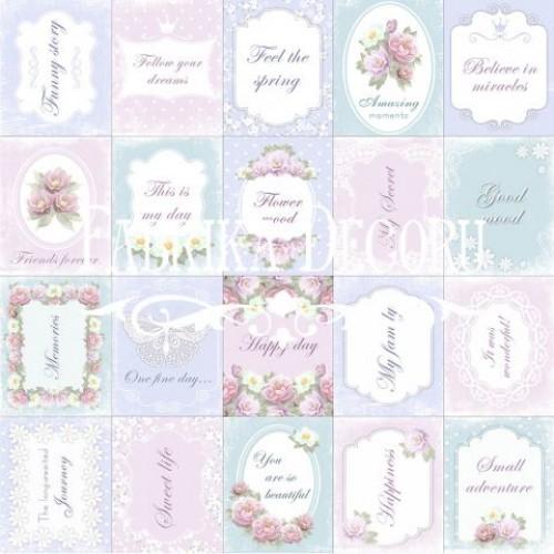 Лист  с карточками Shabby Dreams от Фабрика Декора - Свадьба (англ.), 30х30 см
