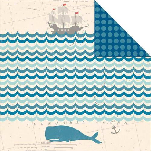 Двусторонняя бумага October Afternoon - Treasure Map - Wale Bone Reef, 30,5х30,5 см