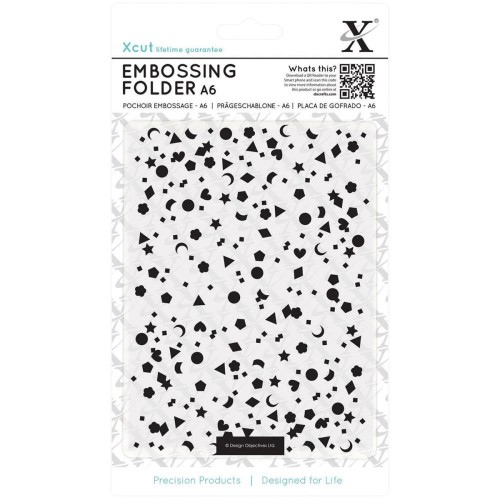 Папка для тиснения Mixed Confetti от Xcut, 10,1х15,2 см