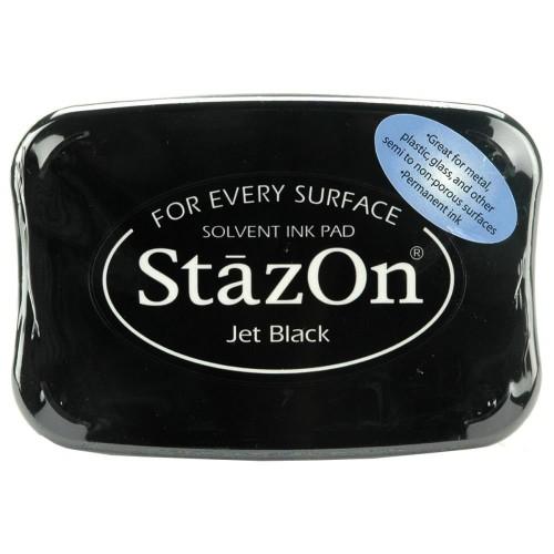 Чернила перманентные StazOn Jet Black, черные