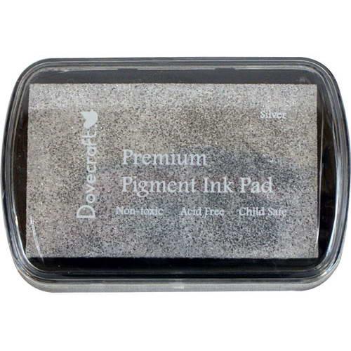 Чернила для штампов серебристое Silver от Dovecraft