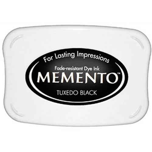 Чернила для штампинга черные Memento Tuxedo Black, Tsukineko