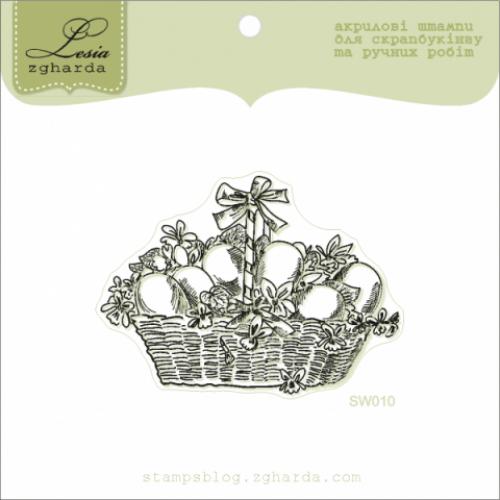 Акриловый штамп Пасхальная корзинка от Lesia Zgharda