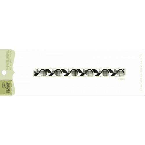 Акриловый штамп Вышиванка 3 от Lesia Zgharda