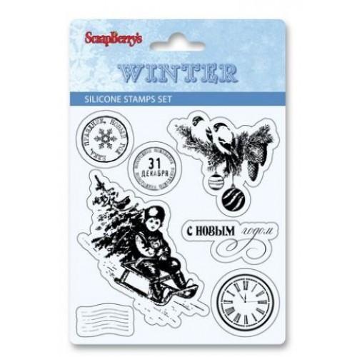 Набор штампов из коллекции Зима от Scrapberry's