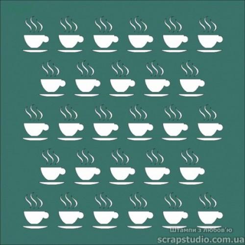 Трафарет Чашка чая, 15х15 см