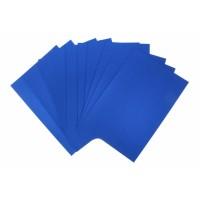 Картон перламутровый Синий односторонний, А4