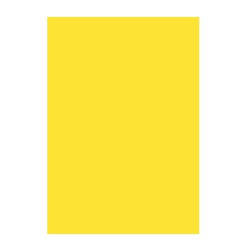 Двусторонний цветной картон Желтый 180 г/м2, А4 фото