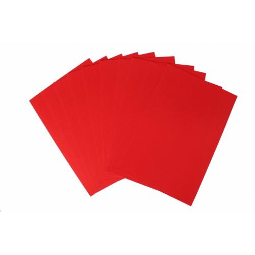 Картон перламутровый Красный односторонний голографический, А4