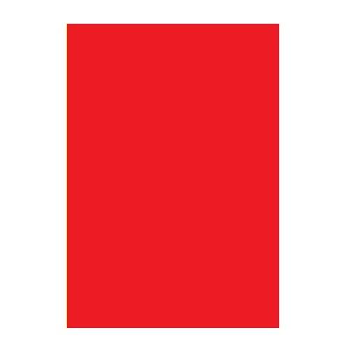 Двусторонний цветной картон. А4, 180 г/м2, красный