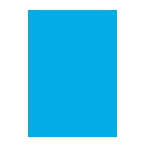 Двусторонний цветной картон Ярко-голубой 180 г/м2 А4 фото