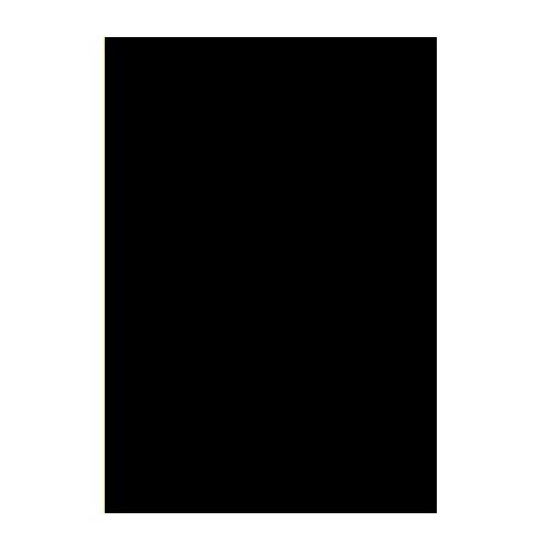 Двусторонний цветной картон. А4, 180 г/м2, черный
