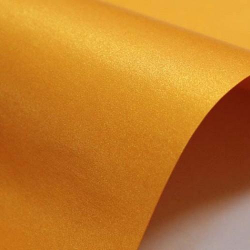 Перламутровый картон Оранжевый А4 фото