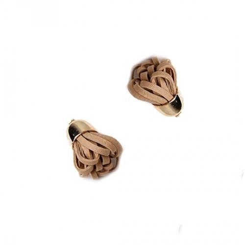 Кисточка из кожзама Какао, фото