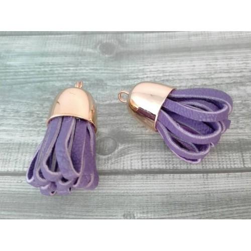 Кисточка из кожзама Фиолетовый