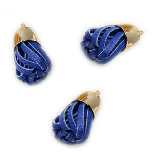 Кисточка из кожзама Синяя фото