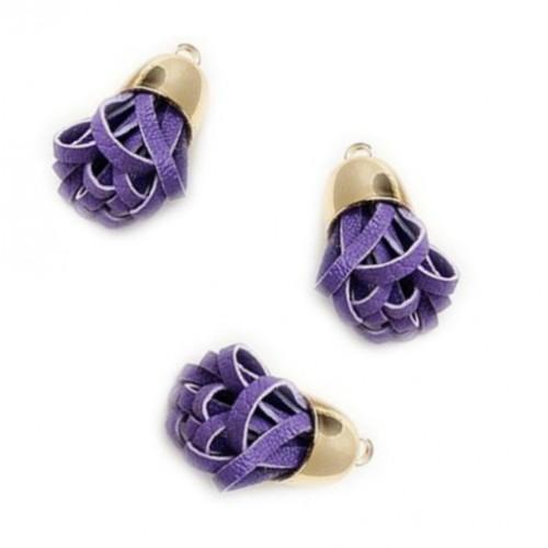 Кисточка из кожзама Фиолетовая фото