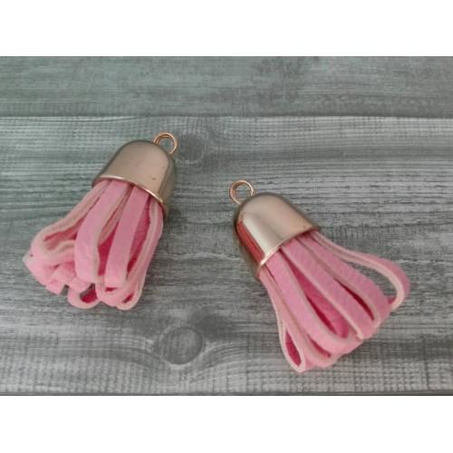 Кисточка из кожзама Розовый