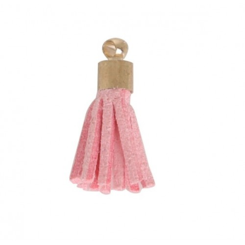 Кисточка из замша Светло-розовая, 2х1см
