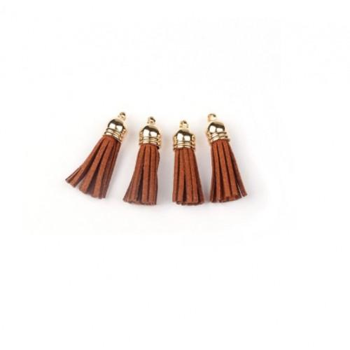 Кисточка из замша Светло-коричневая, 4х2 см