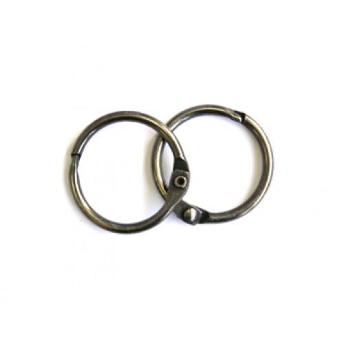 Набор колец  для переплета Черное серебро 20 мм Scrapberry's фото