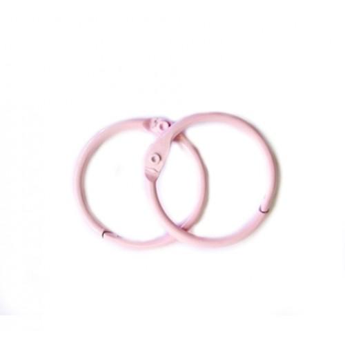 Набор колец  для переплета Розовые 20 мм Scrapberry's фото