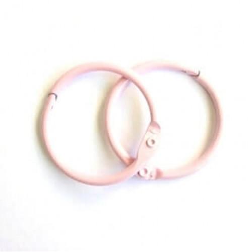 Набор колец  для переплета Розовые 40 мм Scrapberry's фото