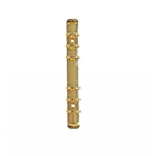 Кольцевой механизм на 6 колец,  золото, 180х25мм