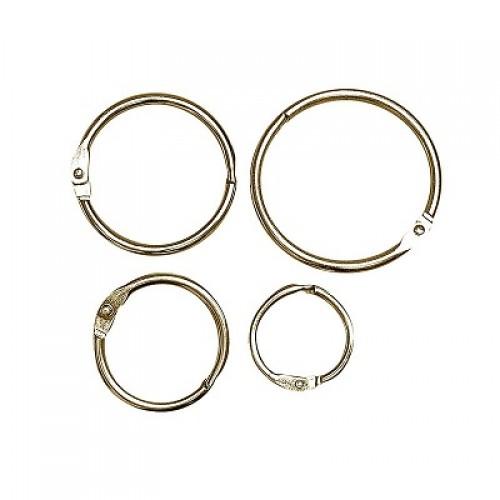 Кольцо металлическое для переплета Золото 20 мм фото