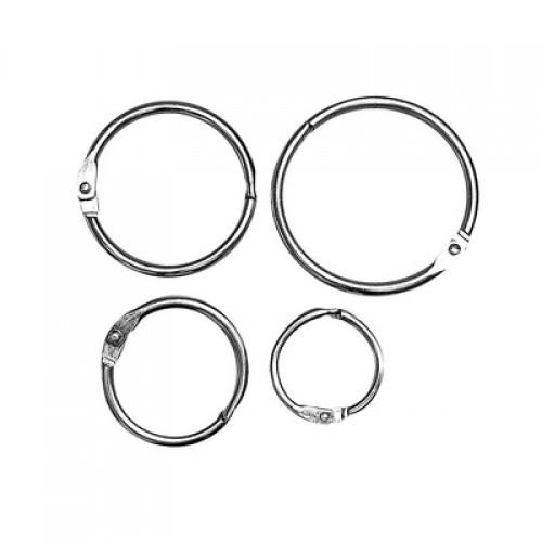 Кольцо металлическое для переплета Серебро 38 мм фото
