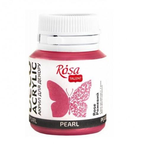 Акрил для декора перламутровый Розовый ROSA Studio фото