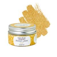 Краска с глиттером shimmer paint золото 30 мл, Фабрика Декора