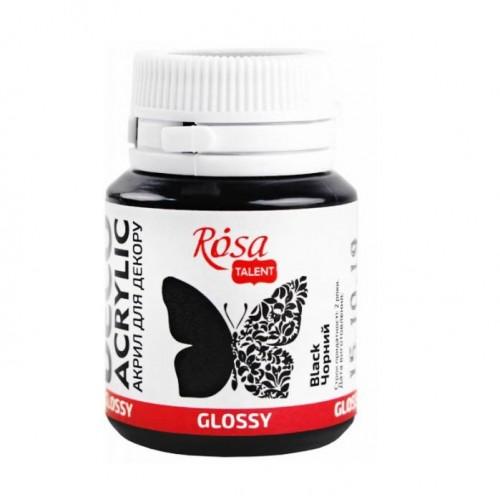 Акрил для декора глянцевый Черный ROSA Studio, фото