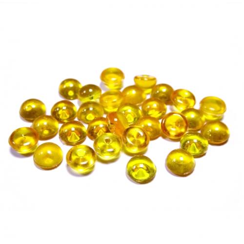Капельки желтые 6 мм, 10 шт