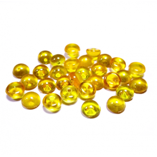 Капельки желтые d 6 мм 10 шт