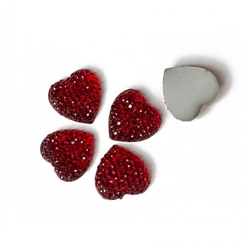 купить кабошоны Сердце красные