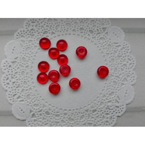 Капельки красные d 6 мм 10 шт