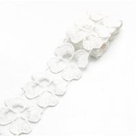 Кружево лепестки Белое, 45 см