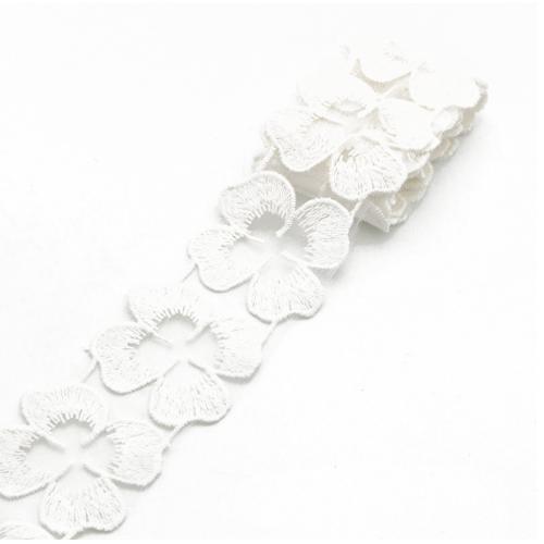 Кружево лепестки Белое, фото
