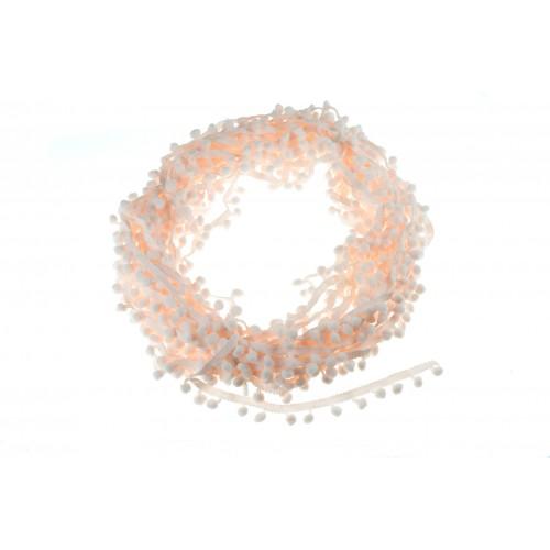 Тесьма с помпонами Светло-розовая фото
