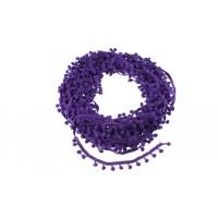 Тесьма с помпонами Фиолетовая, 1 м