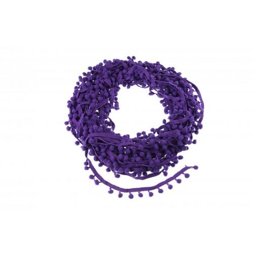 Тесьма с помпонами Фиолетовая фото