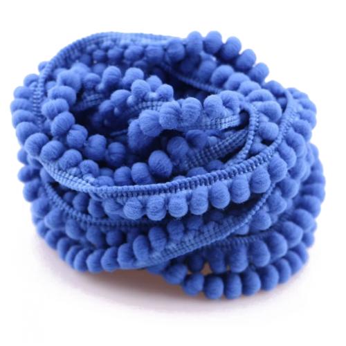 Тесьма с мини-помпонами Синяя фото