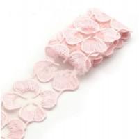 Кружево лепестки Розовое, 45 см