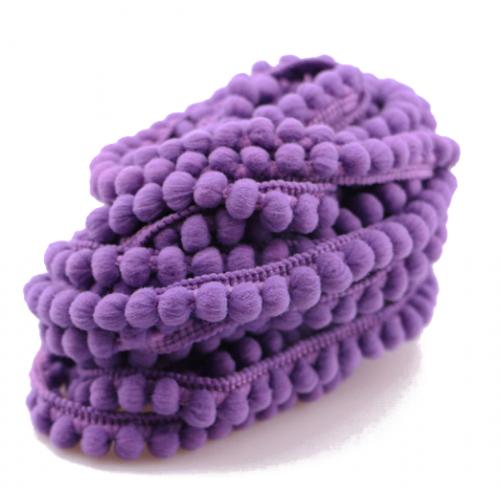 Тесьма с мини-помпонами Фиолетовая, 1 м