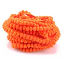 Тесьма с мини-помпонами Ярко-оранжевая, 1 м