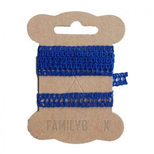 Кружево хлопковое Синее № 81 10 мм, 90 см